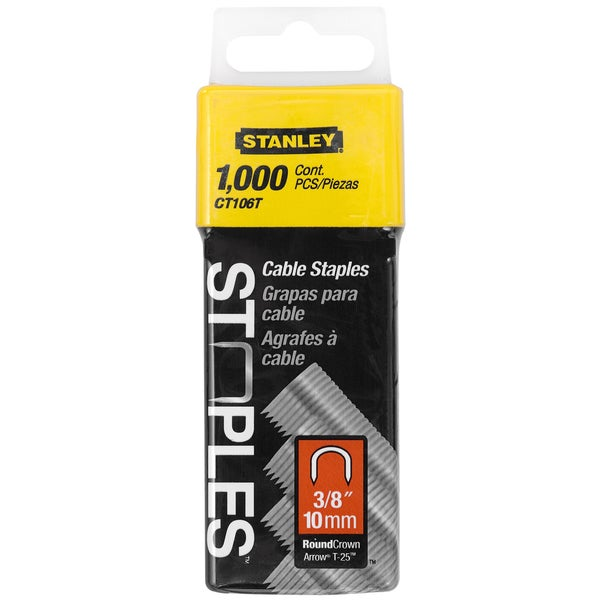 Stanley Hand Tools CT106T 3/8-inch Cable Staples (Pack of 1000)