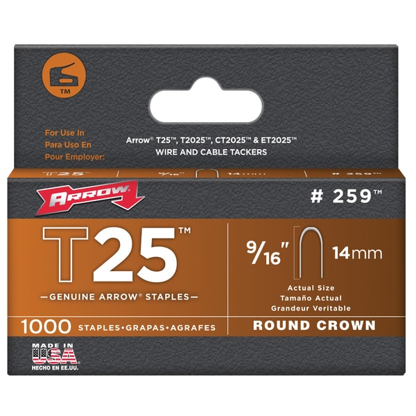 Arrow Fastener 259M 9/16-inch T25 Staples (Pack of 1000)
