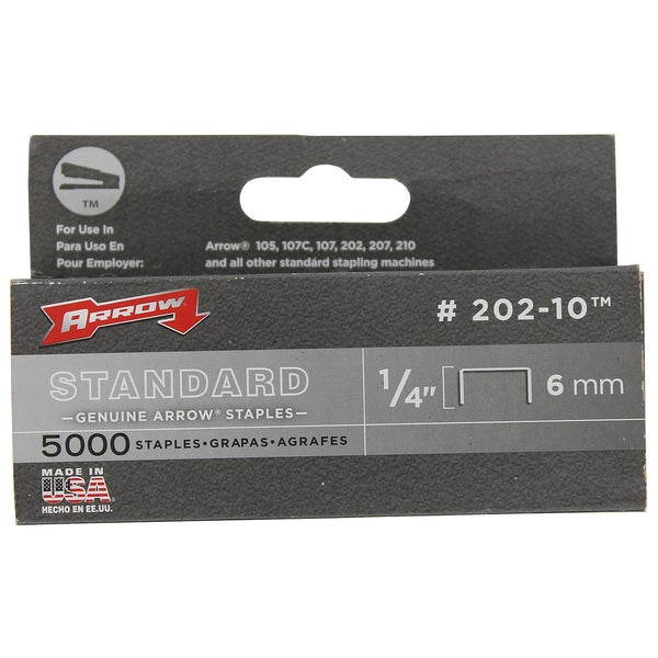 Arrow Fastener 202-10 1/4-inch Standard Desk Staple Box (Pack of 5000)