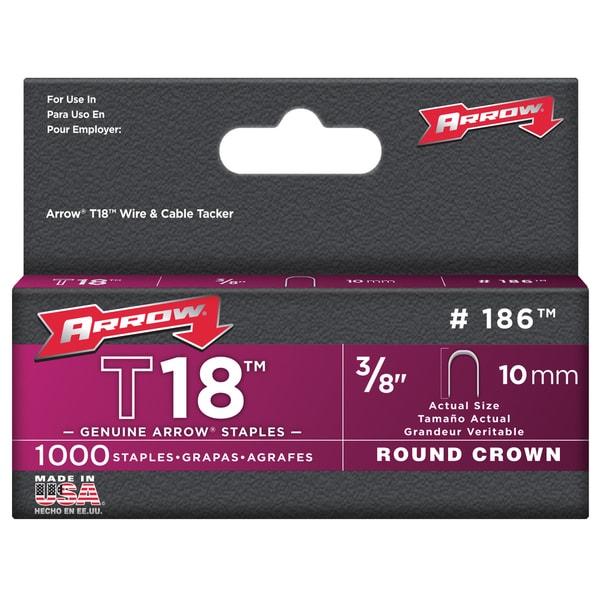 Arrow Fastener 186 3/8-inch T18 Staples (Pack of 1000)