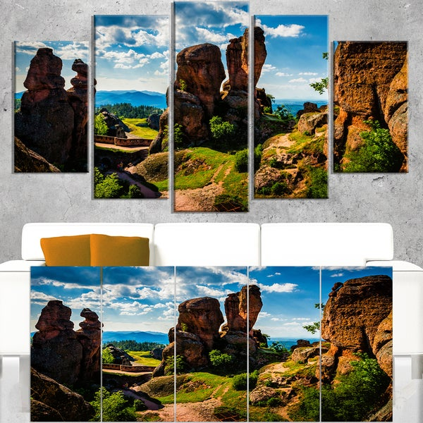 Belogradchik City Fortress and Cliffs - Landscape Art Print Canvas