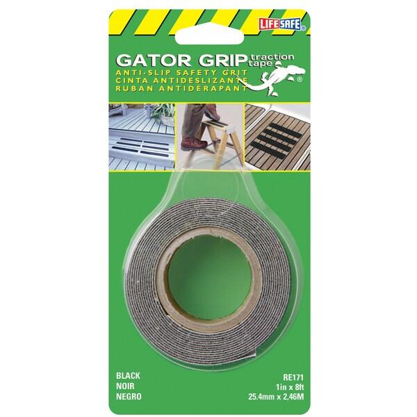 "Incom RE171 1"" X 8' Black Gator Grip Anti Slip Safety Grit Tape"