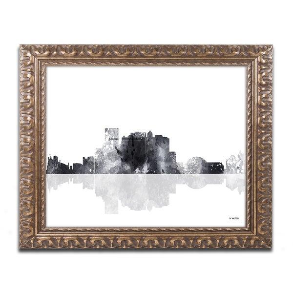 Marlene Watson 'El Paso Mexico Skyline BG-1' Ornate Framed Art