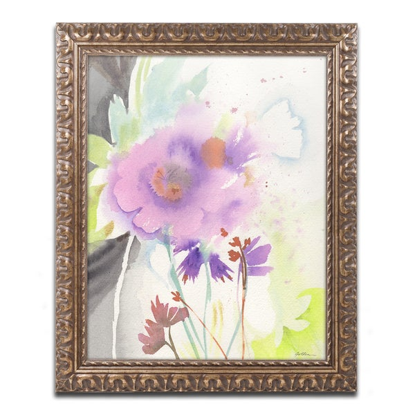 Sheila Golden 'Mauve Garden Shadows' Ornate Framed Art