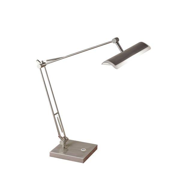 Clerk LED Desk Lamp- Brushed Steel