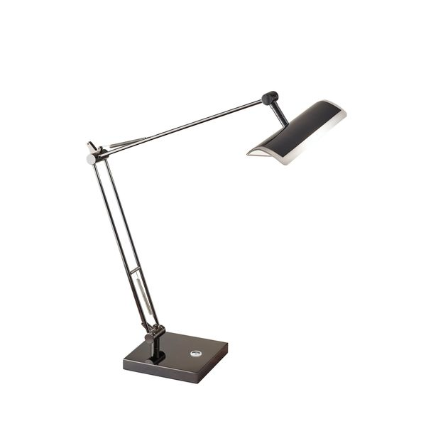 Clerk LED Desk Lamp- Black Nickel