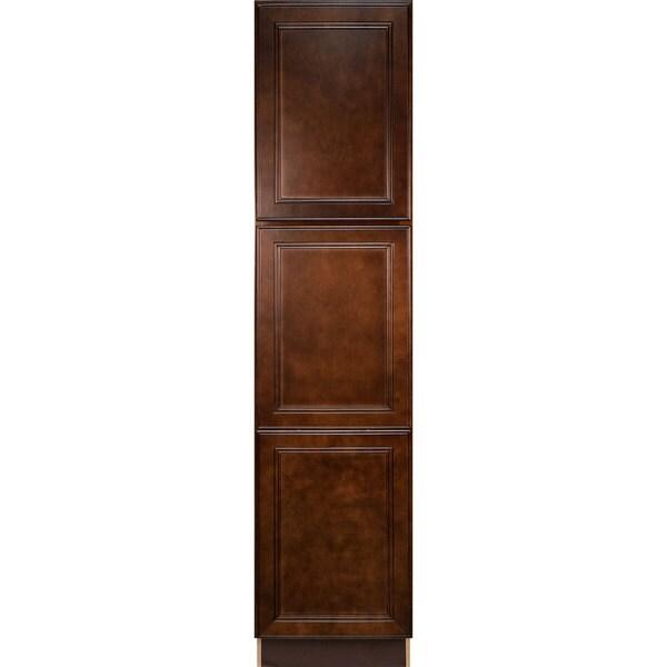 Everyday Cabinets Leo Saddle Cherry Mahogany Pantry/Utility Kitchen Cabinet