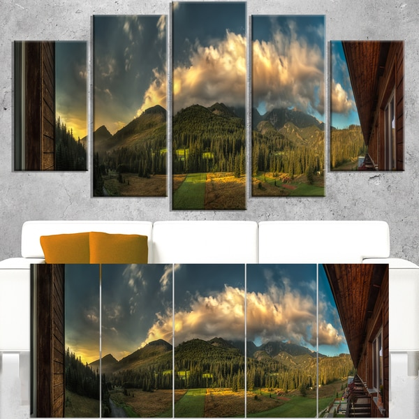 Outside View from Hotel Room - Landscape Wall Art Canvas Print
