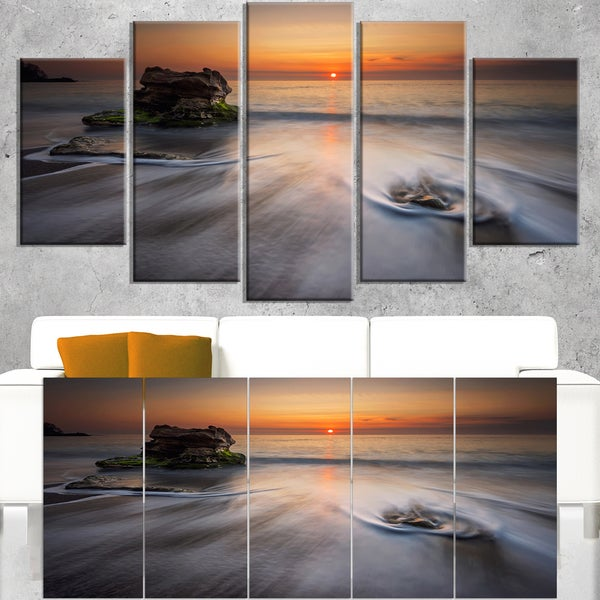 Stormy Sea with Rushing White Waves - Beach Canvas Wall Art
