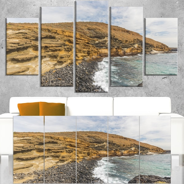 Peninsula Going Beyond the Horizon - Contemporary Seascape Art Canvas