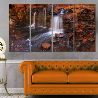 Waterfall in Hancock Gorge - Landscape Wall Art Canvas Print