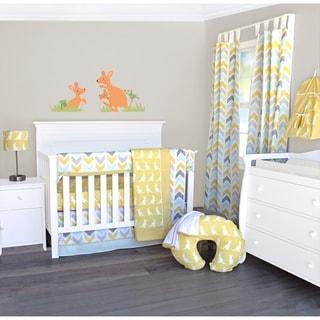 Pam Grace Creations Honeydew Kangaroo 6-Piece Crib Bedding Set