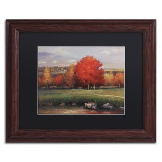Daniel Moises 'Sunset' Matted Framed Art