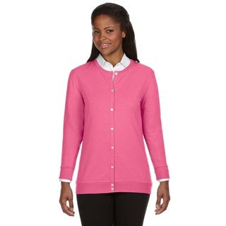 Perfect Fit Women's Ribbon Cardigan Charity Pink