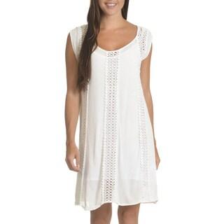 Nina Leonard Women's Cotton Embroidered Shift Dress