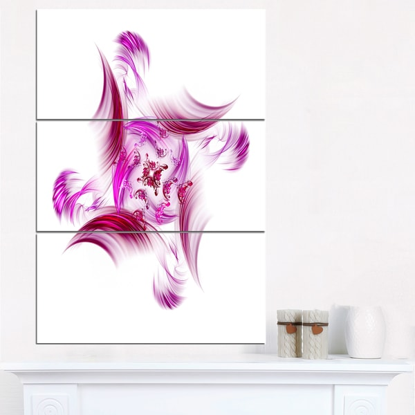 Rotation of Small Universe Purple Flower - Floral Canvas Artwork Print