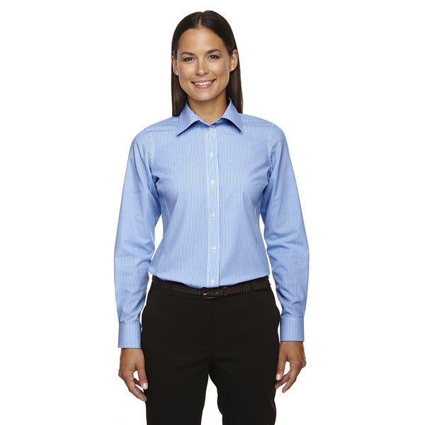 Crown Collection Women's Banker Dress French Blue Shirt