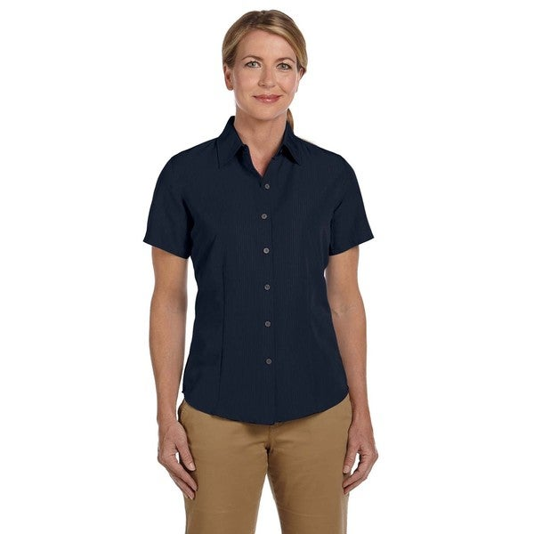 Barbados Women's Textured Camp Navy Shirt