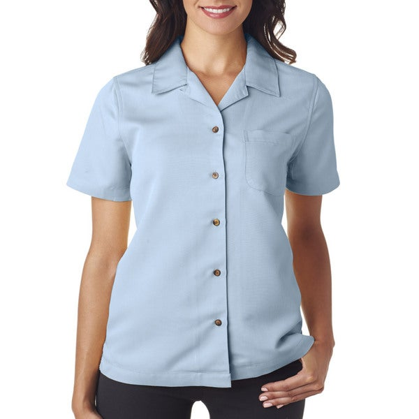 Cabana Women's Breeze Camp Island Blue Shirt