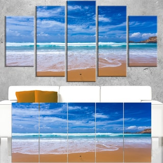 Serene Atlantic Seashore Portugal - Seashore Canvas Wall Art