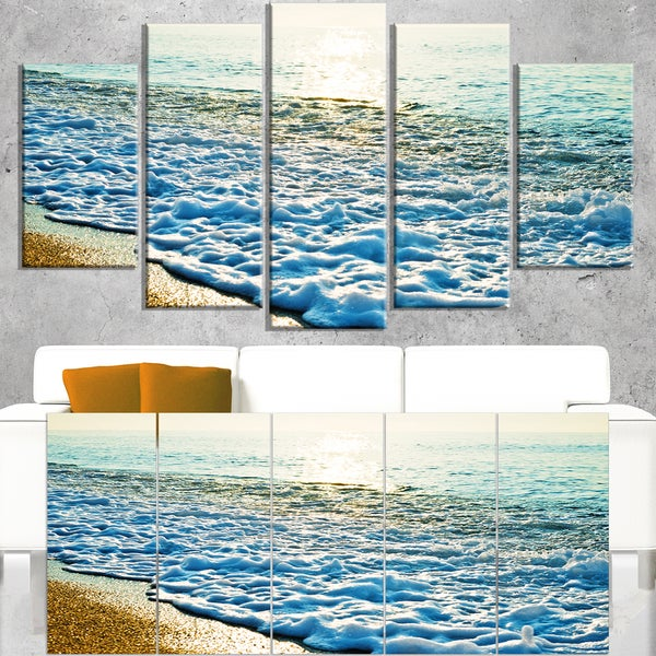 Bright Blue Tranquil Seashore - Beach Canvas Wall Art
