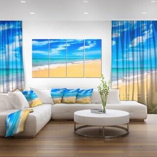 Blue Sandy Tropical Sea Beach - Extra Large Seascape Art Canvas
