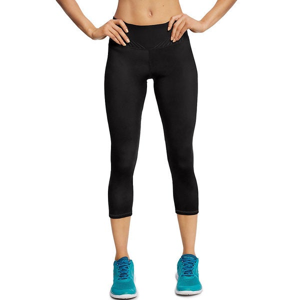 Champion Women's Black Nylon/Polyester/Spandex Running Capri Pants