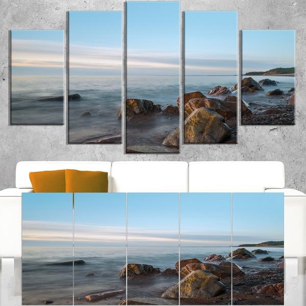 Cape Breton Beach Nova Scotia Canada - Modern Seascape Canvas Artwork