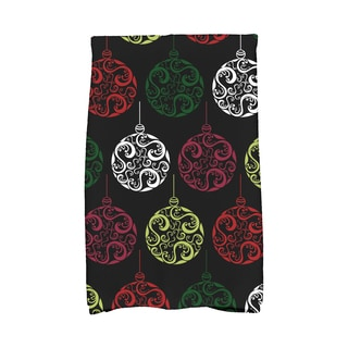 16 x 25-inch Painterly Bulbs Holiday Geometric Print Kitchen Towel