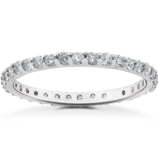 14k White Gold 1/2ct TDW Eco Friendly Lab Grown Diamond Wedding & Stackable Ring (F-G, SI1-SI2)