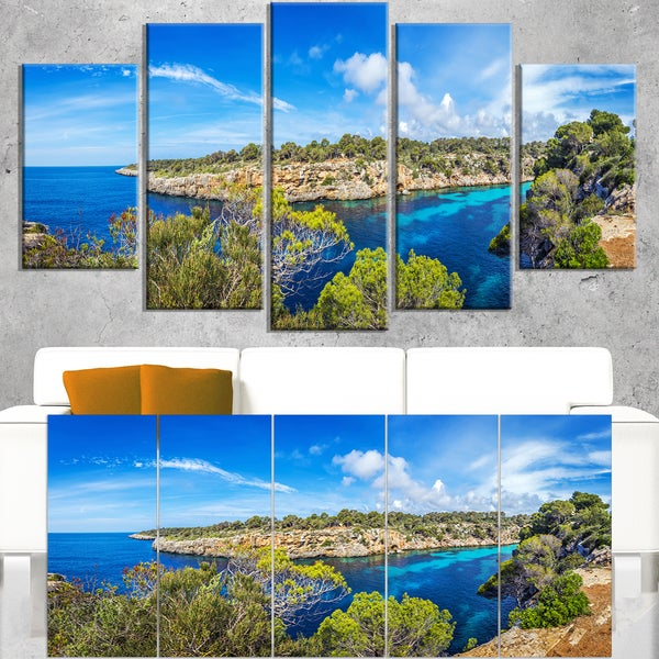 Famous Cove of Cala Pi Mallorca - Large Seascape Art Canvas Print