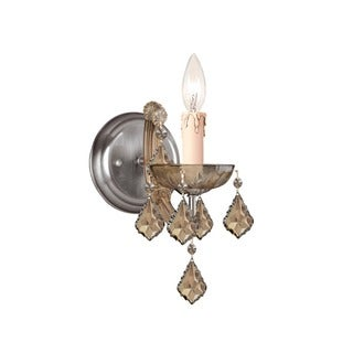 Crystorama Maria Theresa Collection 1-light Antique Brass Wall Sconce