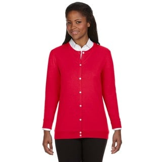Perfect Fit Women's Red Ribbon Cardigan