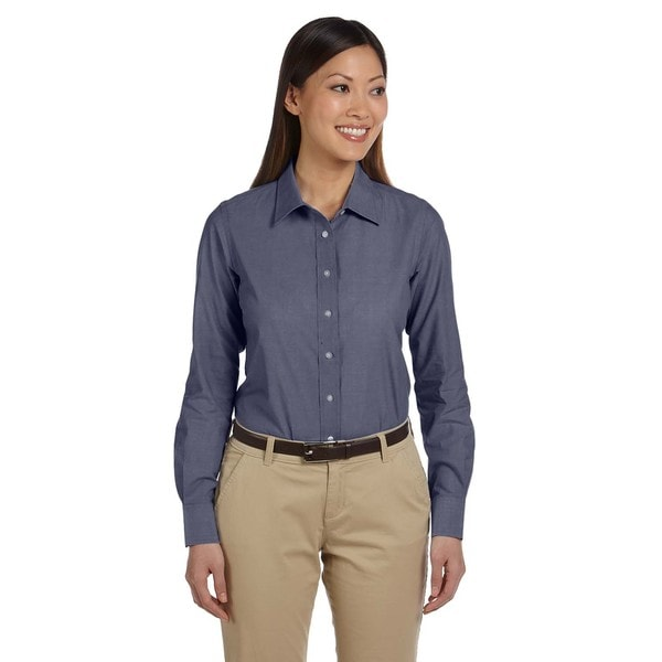 Women's Chambray Dark Blue Shirt