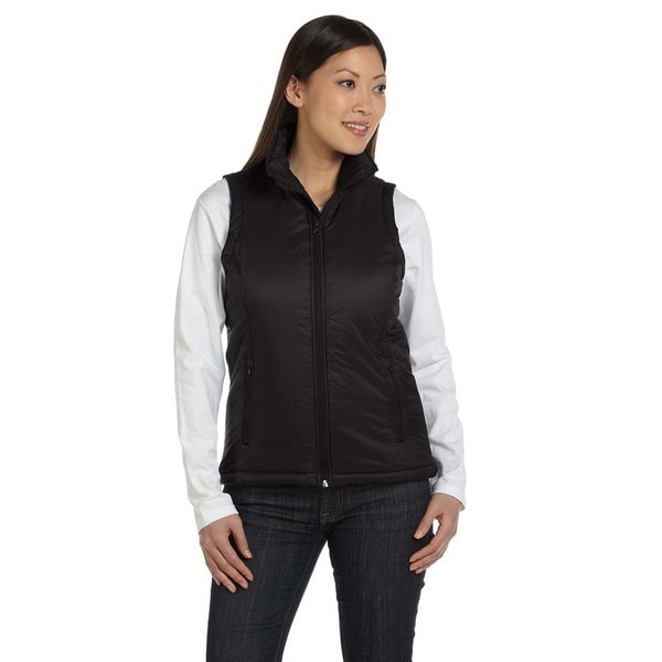 Essential Women's Black Nylon Polyfill Vest