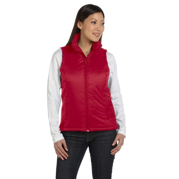 Essential Women's Red Polyfill Vest