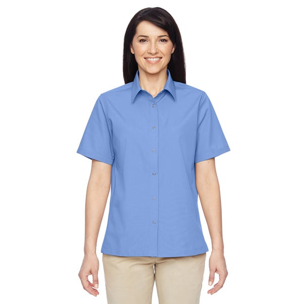 Advantage Women's Snap Closure Short-Sleeve Industry Blue Shirt