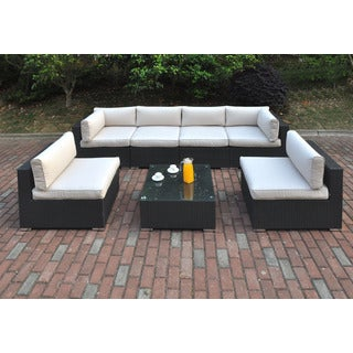 Juberri 6-piece Cream Patio Sofa Set