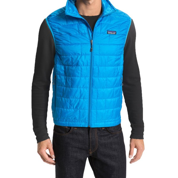 Patagonia Men's Nano Puff Blue Down Puffer Vest