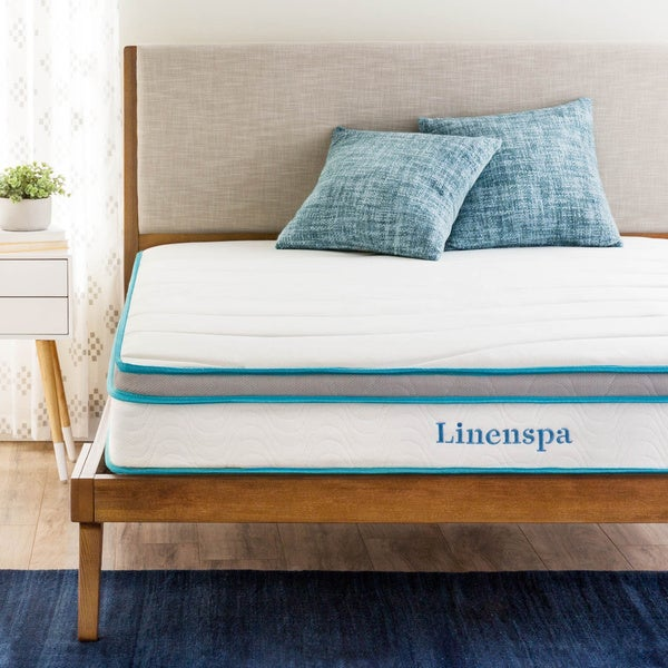 Linenspa  Inch Full Size Memory Foam And Spring Mattress Free