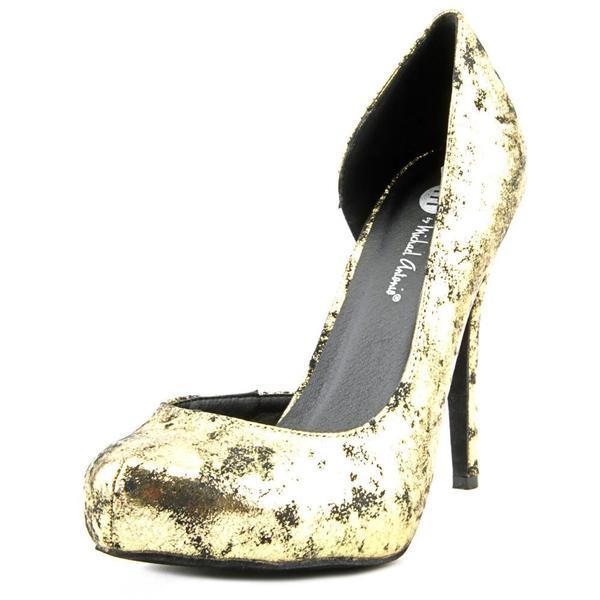Michael Antonio Women's Latanya Gold Fabric Dress Shoes