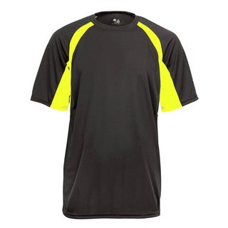 Boys Yellow/Grey Short-sleeve Two-tone Hook T-shirt