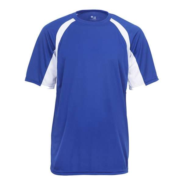 Boys' 2-Tone Royal and White Short-Sleeve Hook T-Shirt