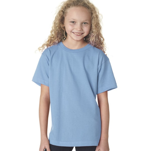 Boys' Light Blue Cotton Short-sleeved T-Shirt
