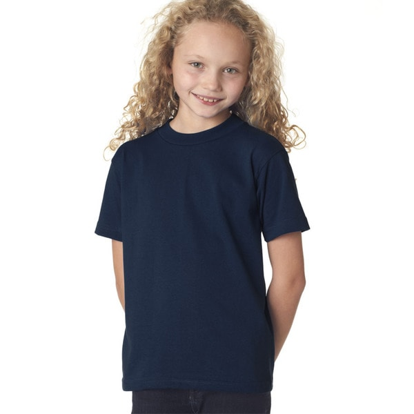 Girls Navy Short-sleeve T-shirt