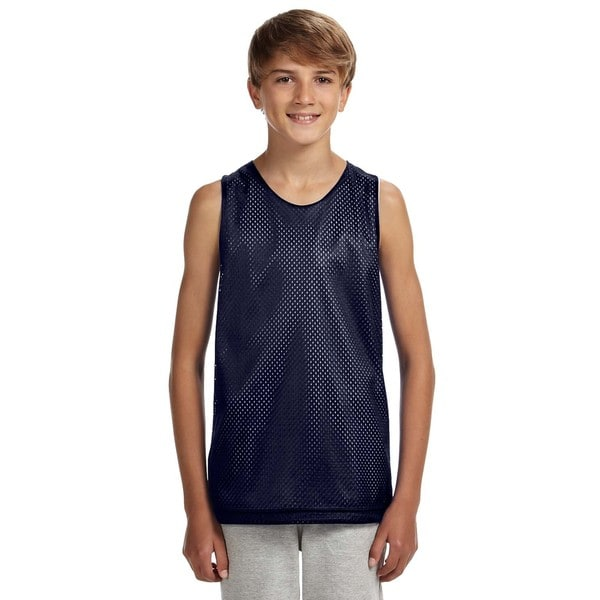 Reversible Boys' Navy/White Mesh Tank 19786939