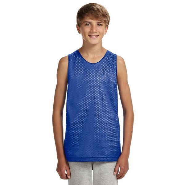 Reversible Boys' Royal/White Mesh Tank 19786947