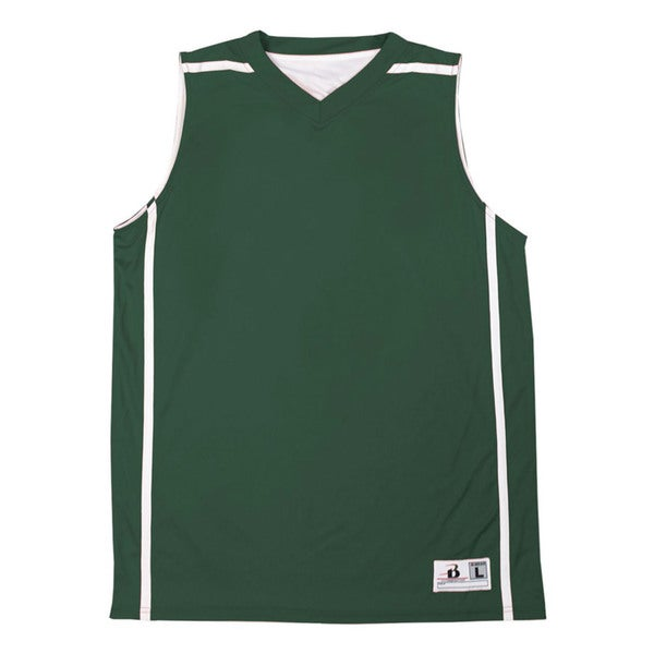 Boys' Forest and White Reversible V-Neck B-Line Tank 19786957