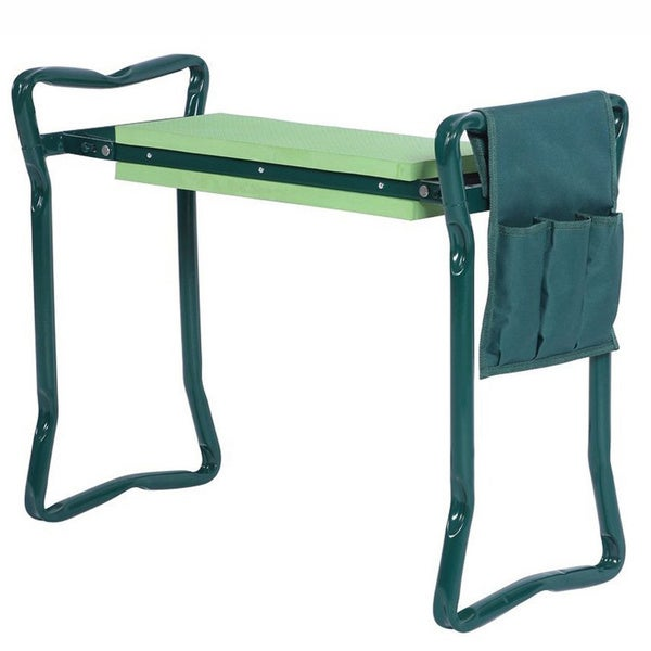 Foldable Garden Kneeler Portable Garden Stool, with Tool Pouch, Thick EVA Pad, Handles, and Seat