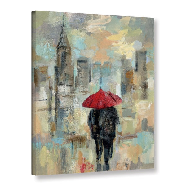 Silvia Vassileva's 'Rain in the City I' Gallery Wrapped Canvas